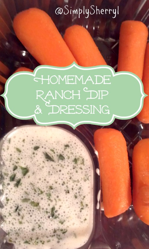 Homemade Ranch Dip and Dressing