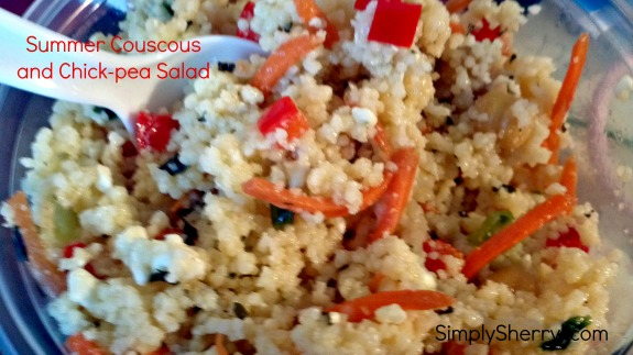 Summer Couscous and Chick-pea Salad