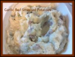 Smashed Red Garlic Potatoes