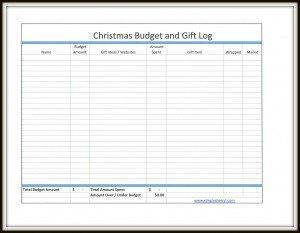 free christmas budget and gift log simply sherryl