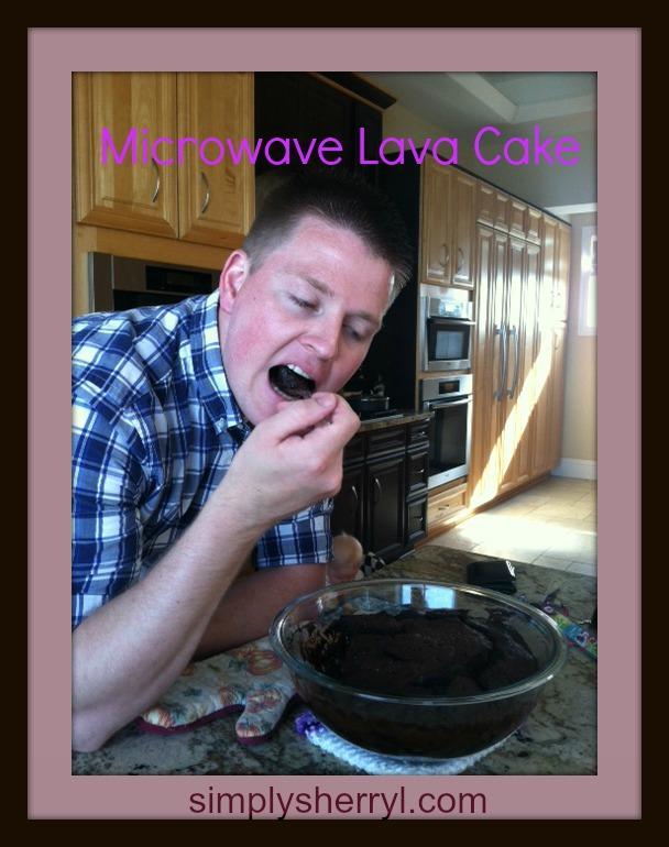 Microwave Lava Cake