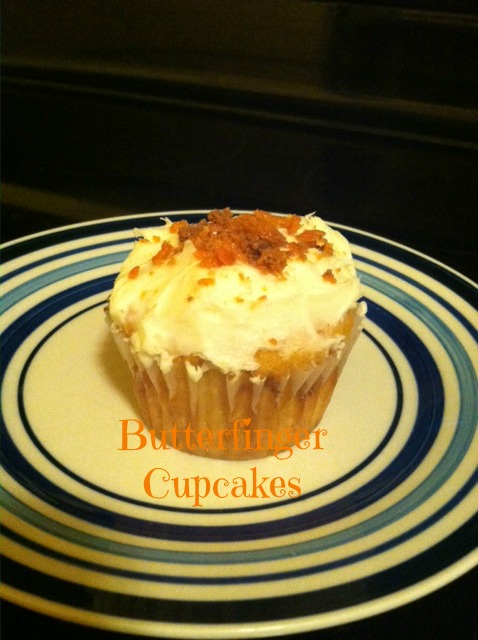 Butterfingers Cupcakes