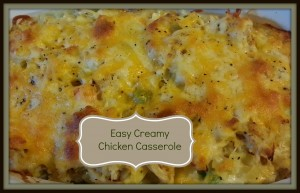Easy Creamy Chicken Casserole