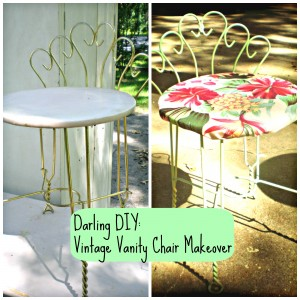 DIY Vintage Vanity Chair Makeover