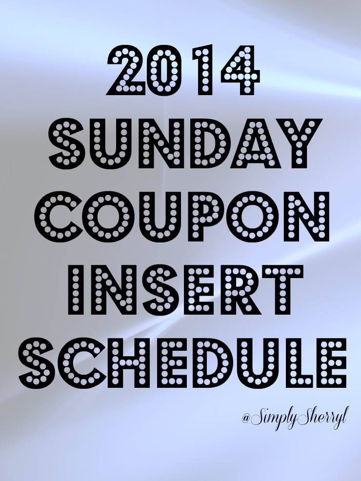 Insert schedule coupons