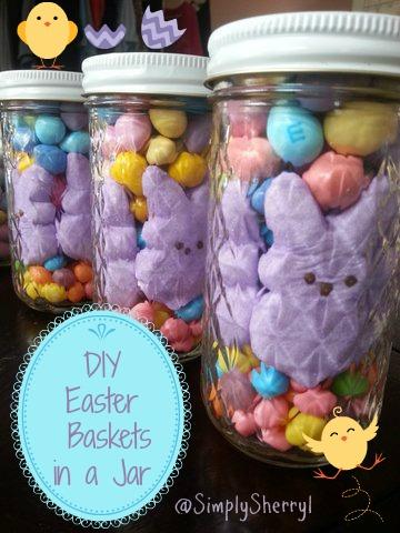 DIY Easter Baskets in a Jar