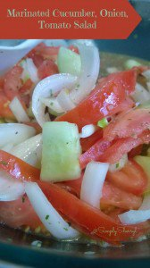 Marinated Cucumber, Onion, Tomato Salad