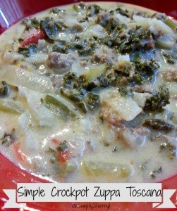 Simple Crockpot Zuppa Toscana
