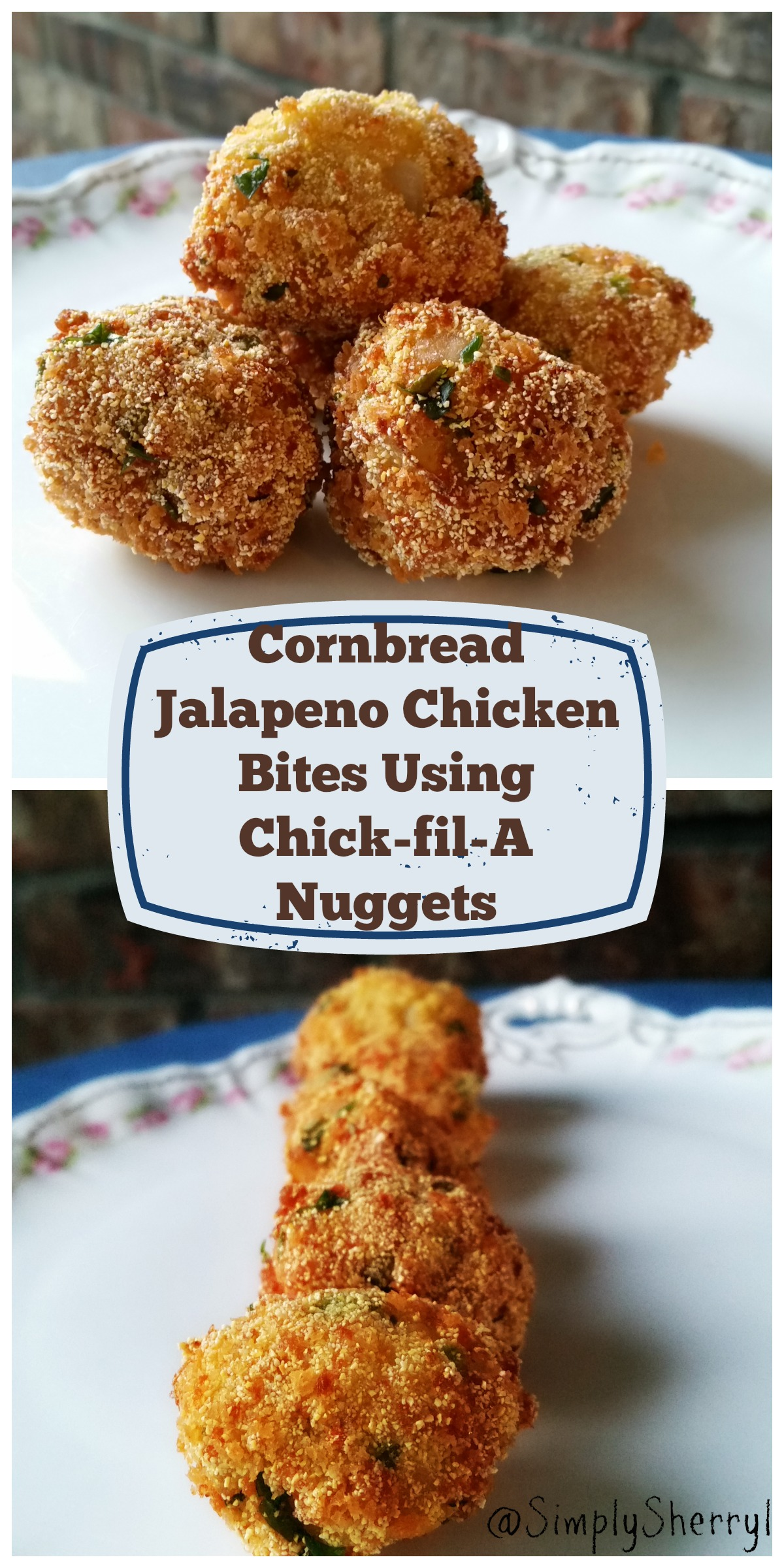 Cornbread Jalapeno Chicken Bites Using Chick-fil-A Nuggets