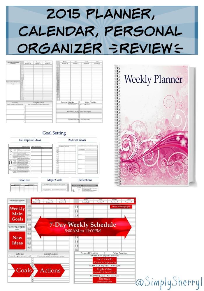 Calendar Planner Organizer : Planner calendar personal organizer