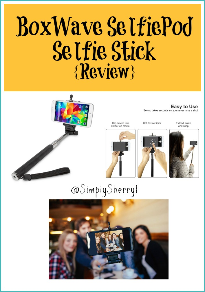 boxwave selfiepod selfie stick review simply sherryl. Black Bedroom Furniture Sets. Home Design Ideas