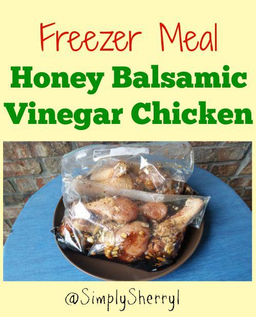 Freezer Meal Honey Balsamic Vinegar Chicken