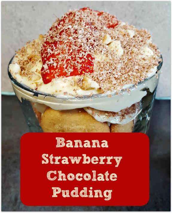 Banana Strawberry Chocolate Pudding