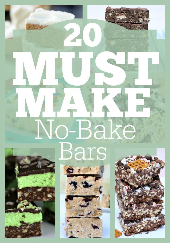 20 Must Make No-Bake Bars