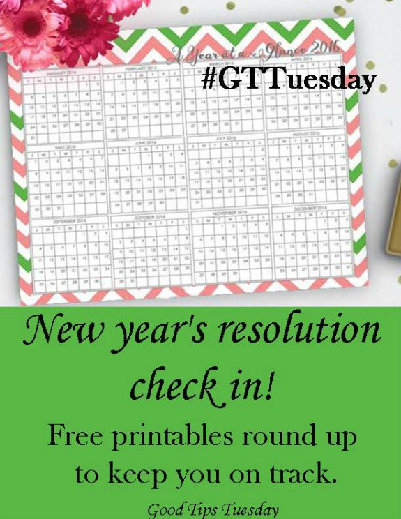 This week our featured posts are New year's resolution check in! Free printables to keep you on track