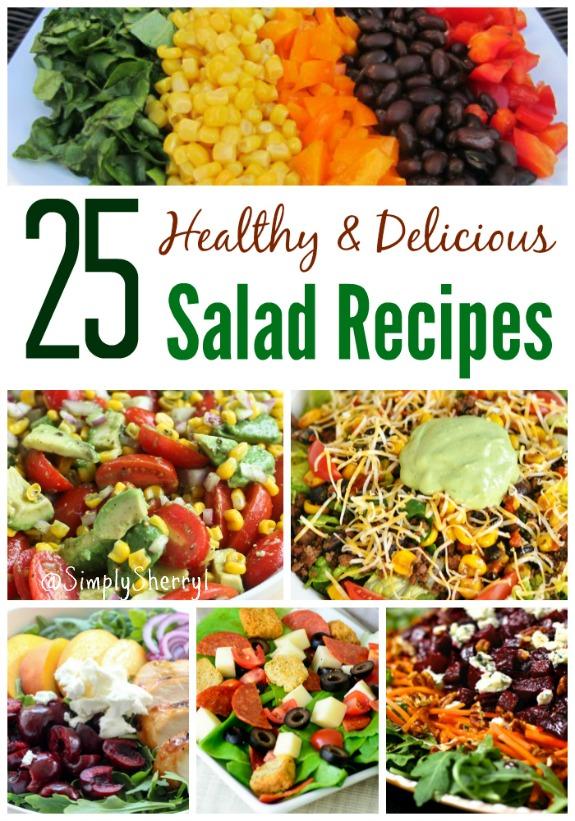 25 Healthy & Delicious Salad Recipes