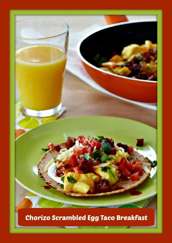 Chorizo Scrambled Egg Taco Breakfast | Simply Sherryl