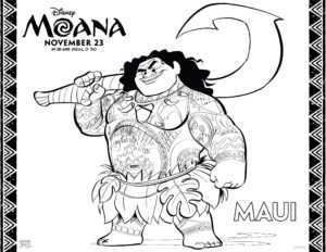 Moana Posters and Coloring Pages