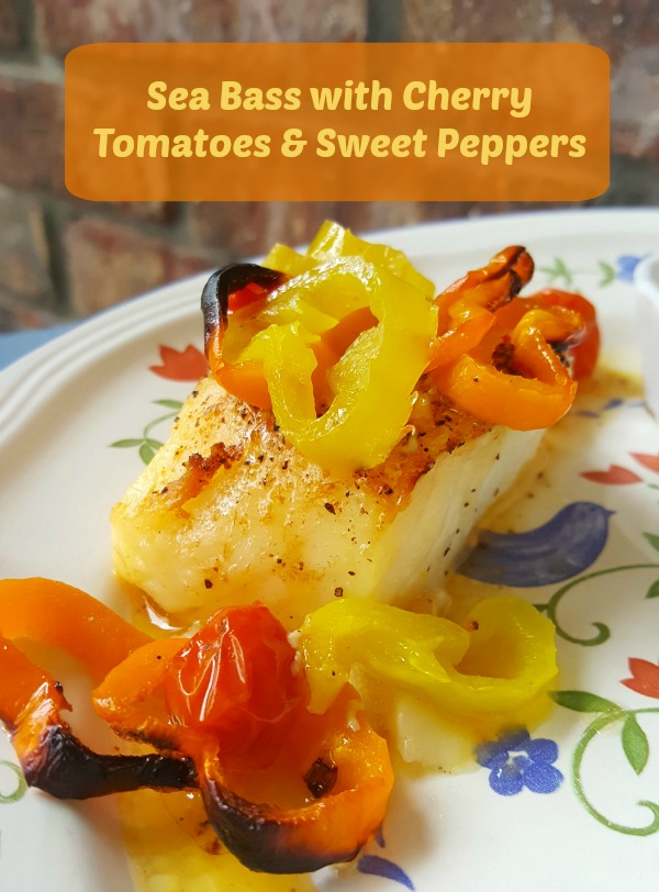 Sea Bass with Cherry Tomatoes & Sweet Peppers