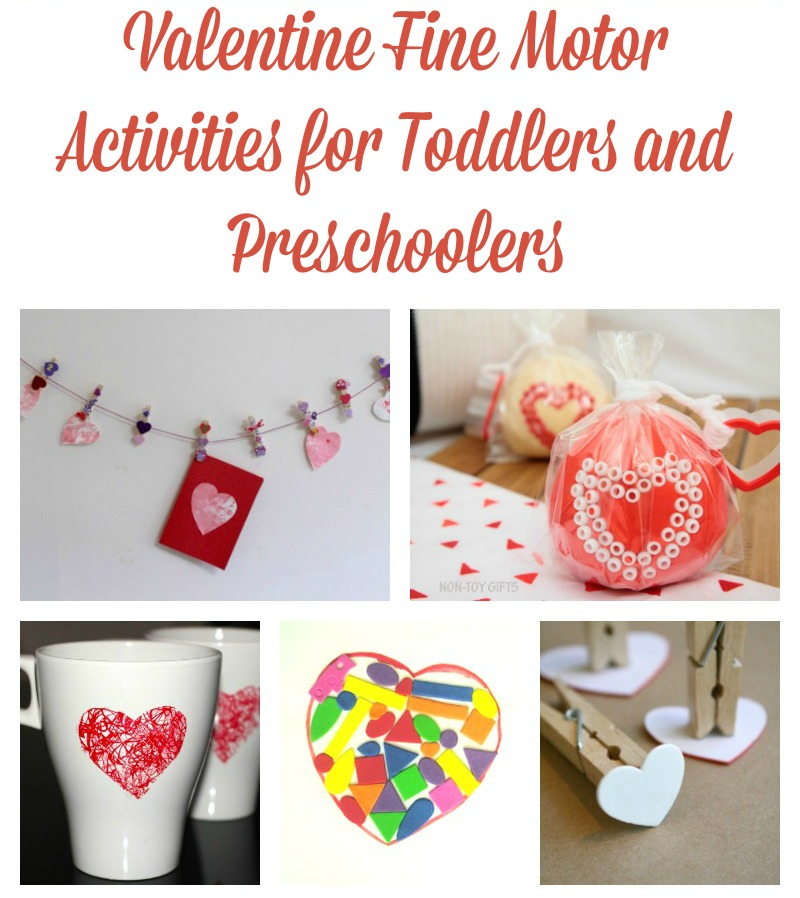 Valentine fine motor activities for toddlers and for Motor activities for preschoolers