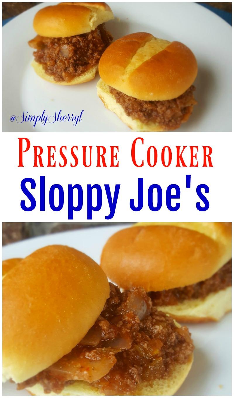 Pressure Cooker Sloppy Joes