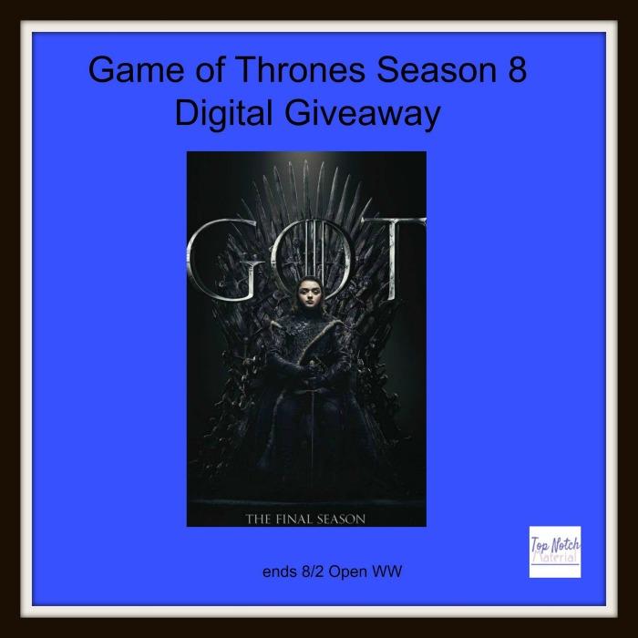 Game of Thrones Season 8 Giveaway