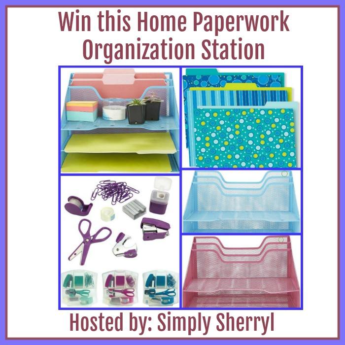 Home Paperwork Organization Station
